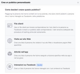 pubblicita facebook interazioni sulla pagina