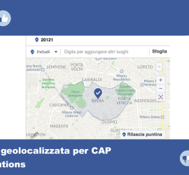 pubblicità facebook geolocalizzata CAP